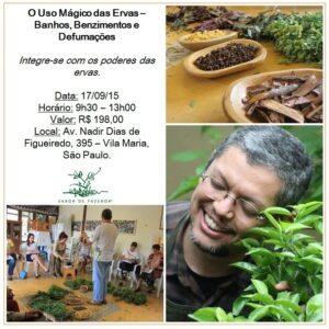 Curso 'O Uso Mágico das Ervas' com Adriano Camargo