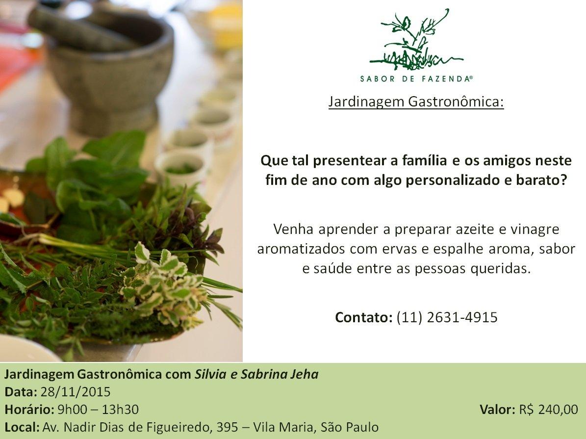 Curso Jardinagem Gastronômica com Silvia e Sabrina Jeha
